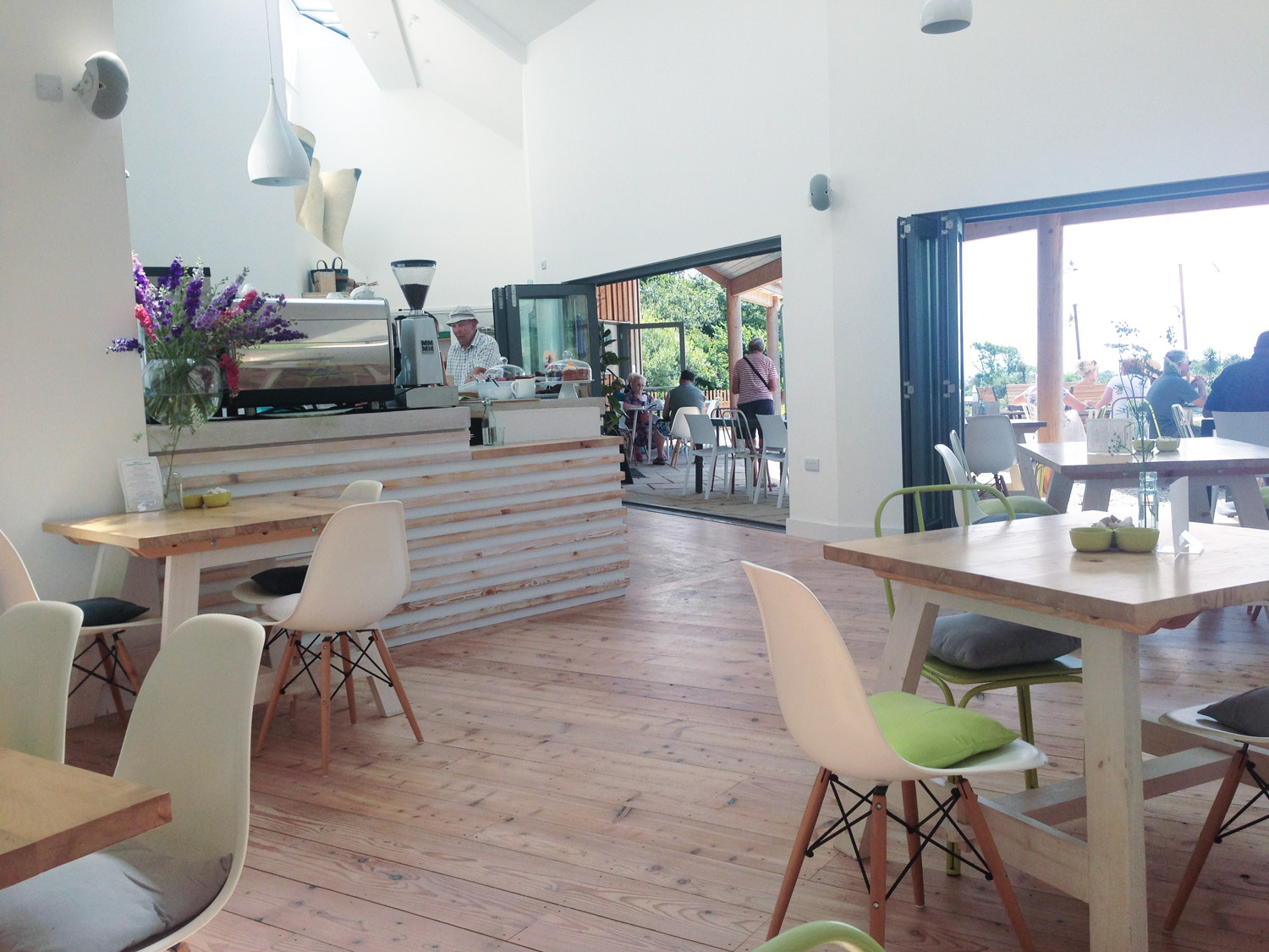 Commercial architect designed building in Cornwall Cafe