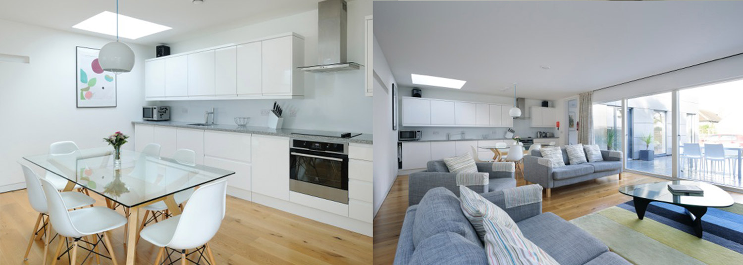 St Ives Architect build house kitchen