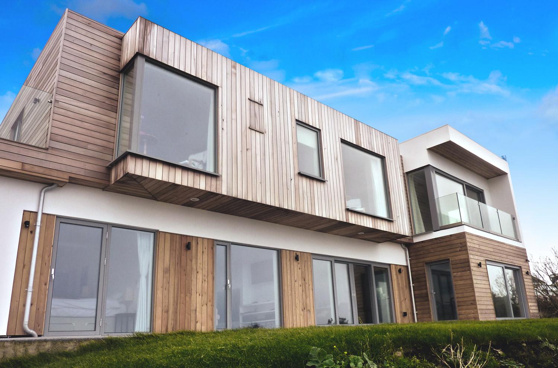 Dor Lewern Architect designed House Cornwall Exterior