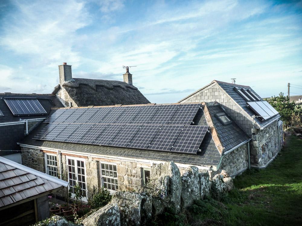 Architect build extension solar panels view