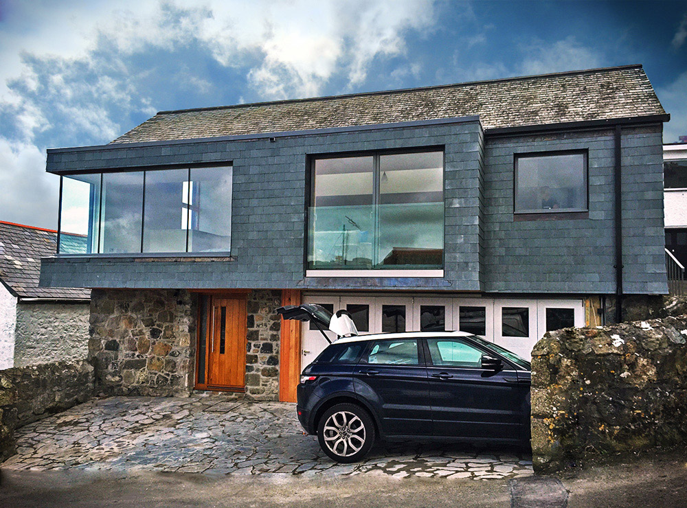 Costal designed home Cornwall entrance