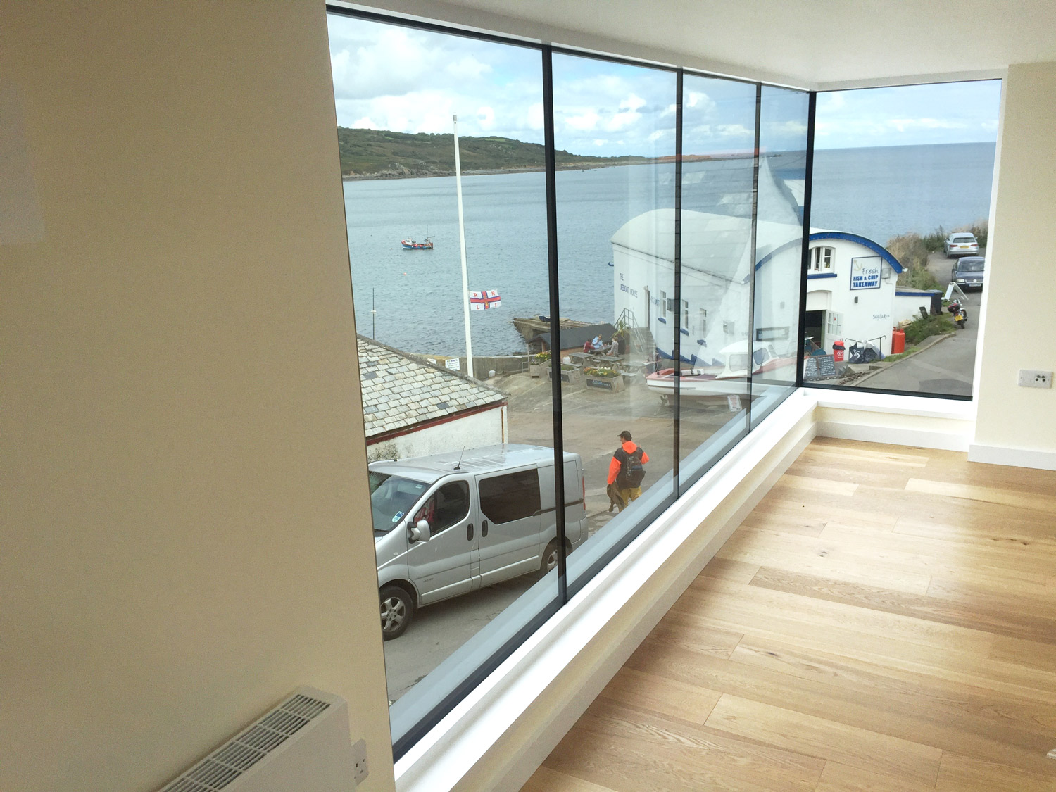 Costal designed home Cornwall view