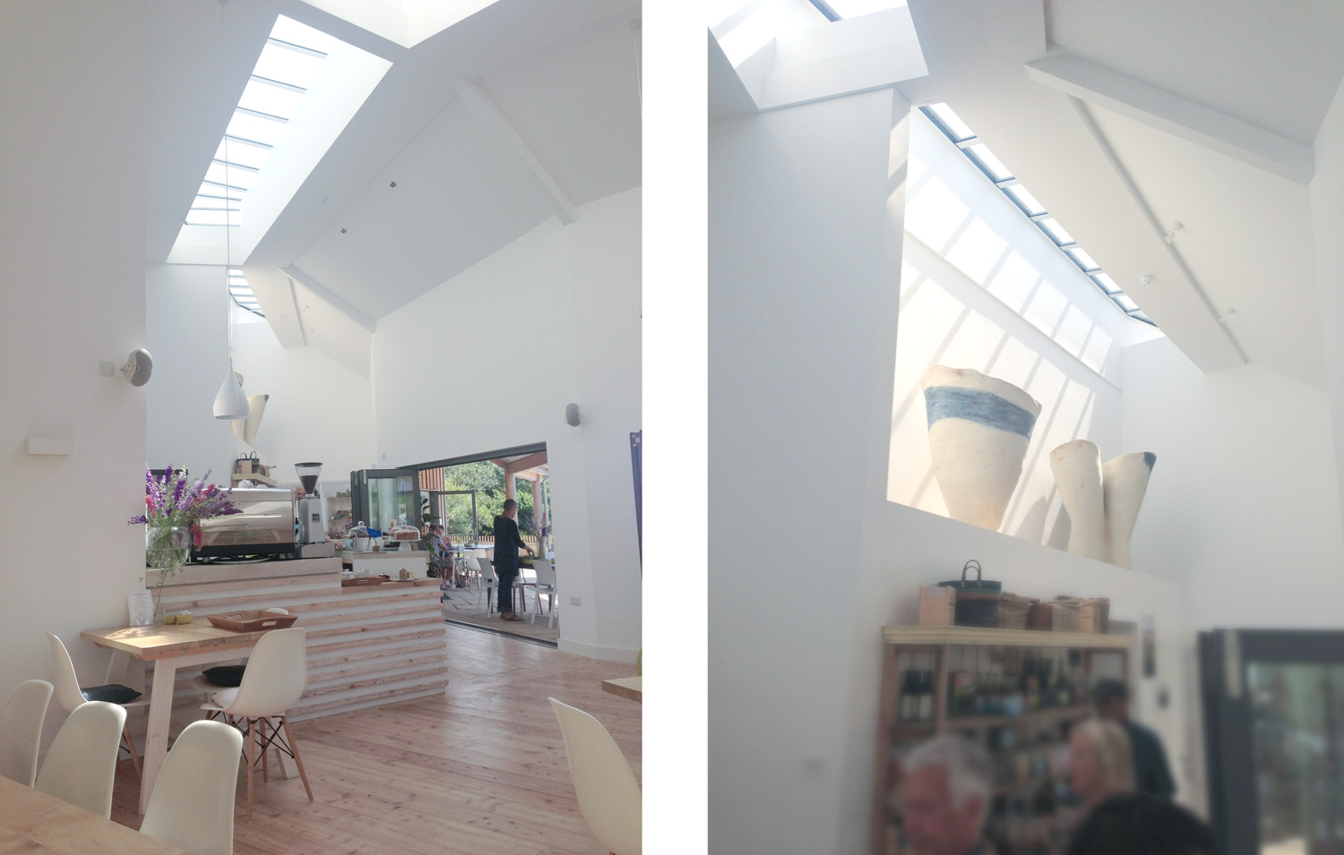 Commercial architect designed building in Cornwall skylights