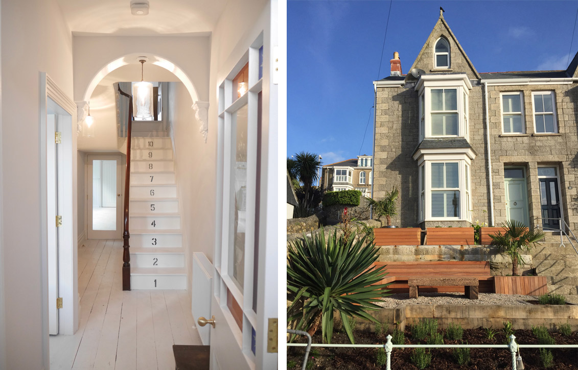 St Ives Cornwall town house renovation entrance