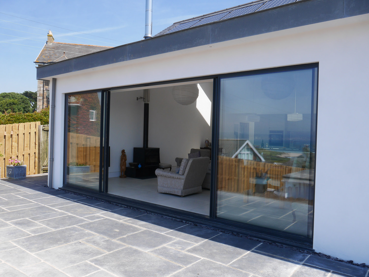 Cornwall designed new build house patio