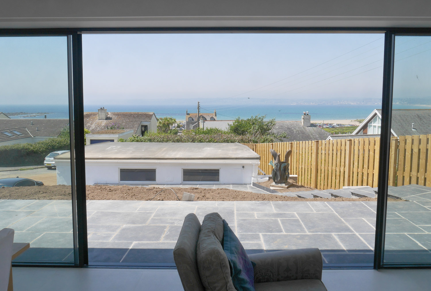 Cornwall designed new build house view