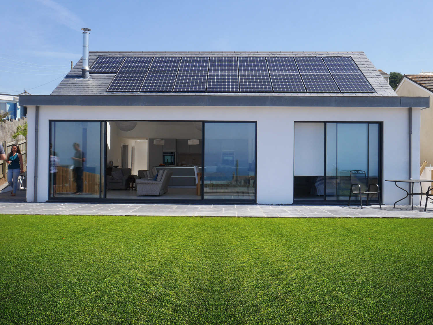 Cornwall designed new build house frontage