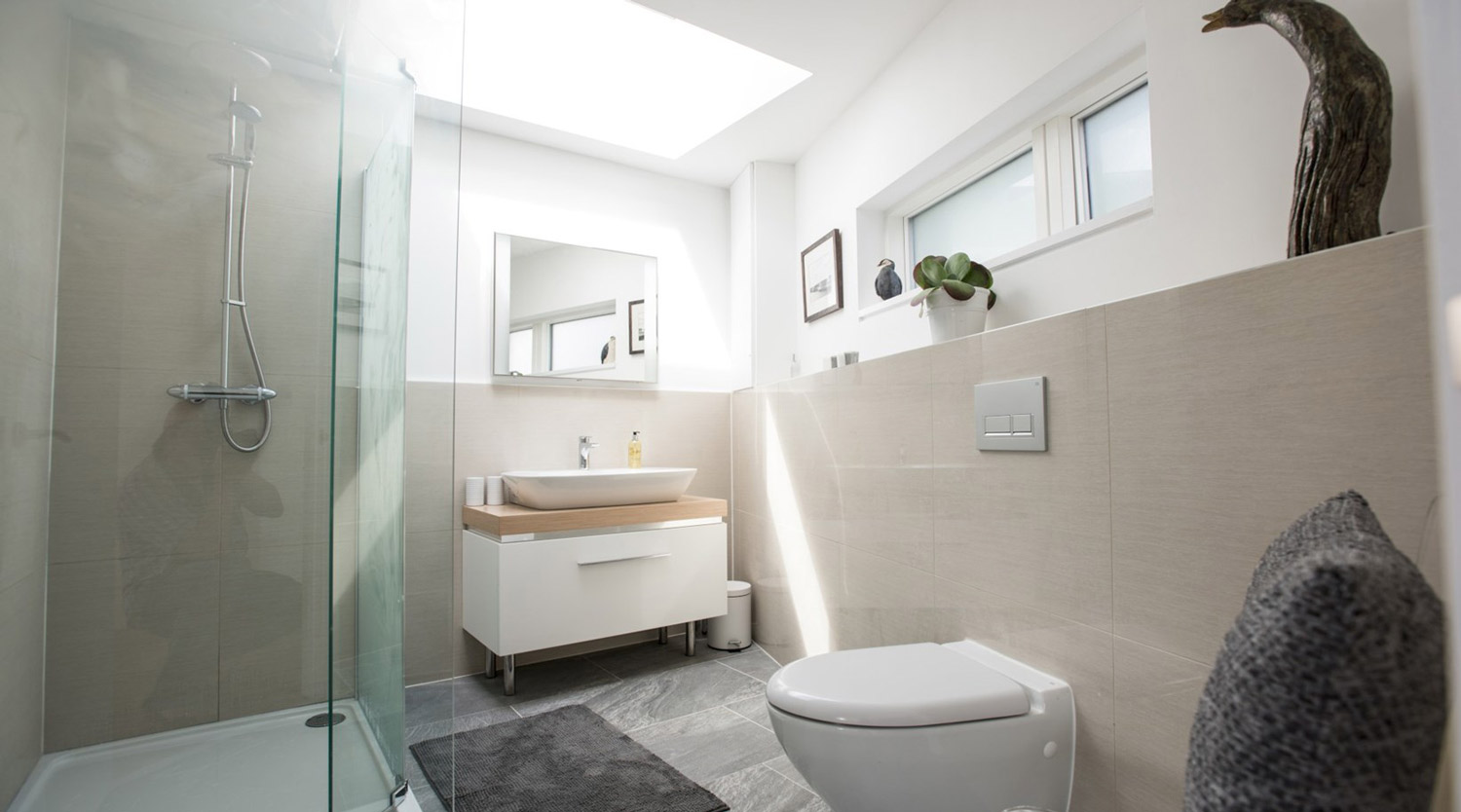 bathroom designed by architect in Cornwall