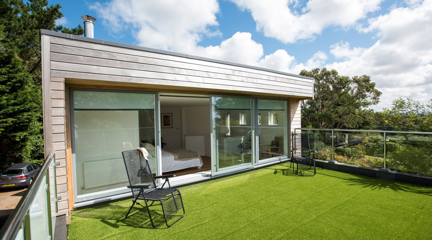 roof garden deck designed by architect in Cornwall